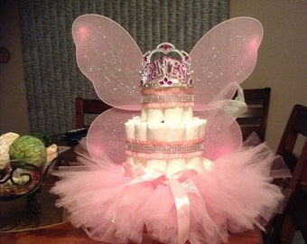 3 Tier Diaper Princess cake