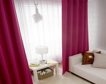 Hot Pink Blackout Curtain Drapery Panel Nursery Curtains