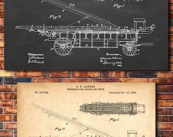 Fire Truck Patent Print Art 1894