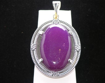 40 X 30 MM OVAL AGATE Sterling Silver Pendant