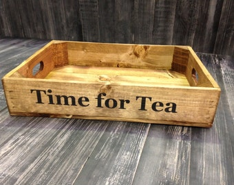 Personalised Rustic Wooden Apple Crate Tray