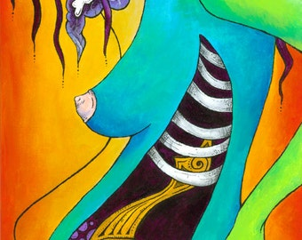 """Mother of Pearl Giclee Print (12"""" x 36"""")"""
