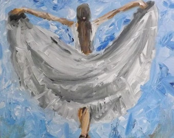 The Love of Dance acrylic painting