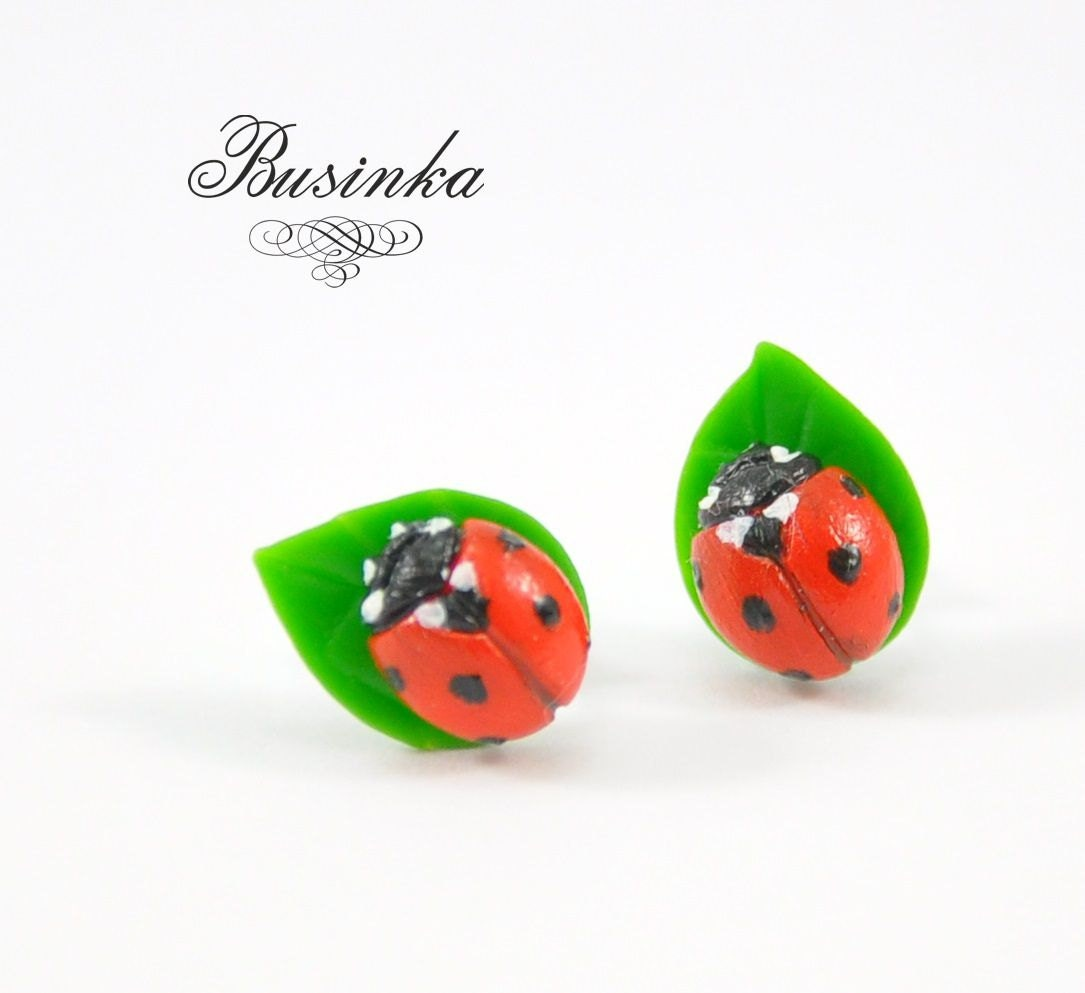 ladybug earrings ladybird earrings by nataliyabusinka