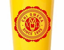 Chi Omega Old Style Classic Giant Plastic Cup