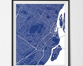 Montreal Map Art Print, Quebec Canada Map University of Montreal Art Graduation Gift, Dorm Decor