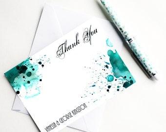 Wedding Thank You Cards Wedding Stationery Set Modern Wedding Thank You Notes Wedding Watercolor Thank You Cards Bulk Wedding Note Cards