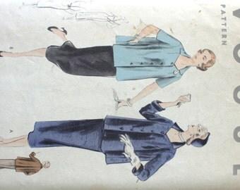 Vintage 1950's Vogue Maternity Dress Pattern 7879 Size 16