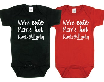 Twin Baby Boys, Dad's Lucky, Boy Twins, Twin Boys, sizes from 0 to 12 months, Twin Baby Boy Gifts