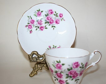 Tea cup and saucer. Vintage. Bone China. Regency English.