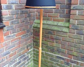 Upcycled standard lamp with Annie Sloane paint and new lampshade