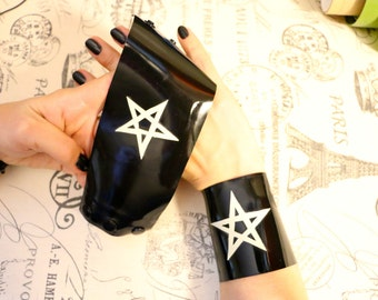 Latexion Accessorize! Latex  Pentagram cuffs - pair