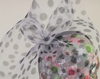 Black & White Polka Dot Fascinator