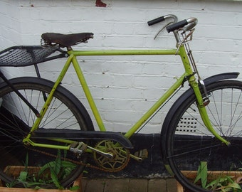 1930s Raleigh Roadster, lime green