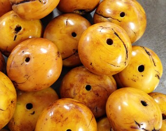 Polymer Clay Faux African AMBER BEADS