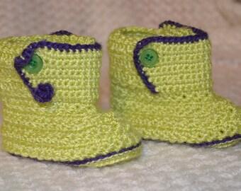Baby booties, handmade, crochet