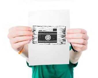 Leica - Linocut - Print - Graphic Design