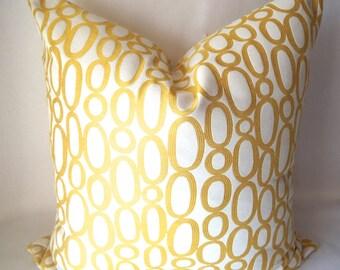 Yellow Throw Pillows, Yellow and White Sofa Pillows, Decorative Pillows, Cushion Cover, Home Living, Throw Pillows