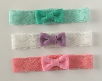 Newborn Lace Headband Set