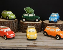 Ceramic Mini Cooper Plant Potters
