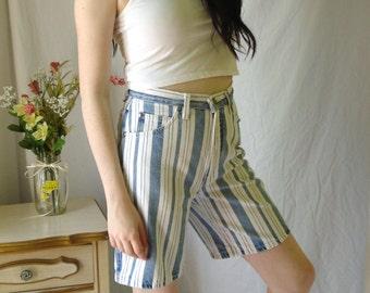 1980's Levi's, 900 series, striped denim shorts, LEVIS