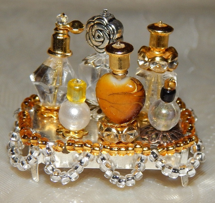 Handmade Dollhouse Miniature Perfumes Set Miniature Bottles