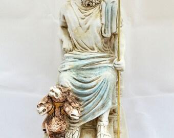 Hades Ancient Greek God King of the Underworld sculptureThrone statue (25cm)