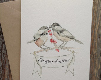 Chickadee Congratulations Greeting Card