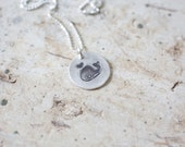 Whale Necklace, Adorable Whale Necklace, Small Whale Necklace, Silver Whale, Whale Pendant, Blue Whale Pendant, Small Whale, Animal Jewelry