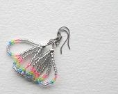 Small Seed Bead Loop Earrings