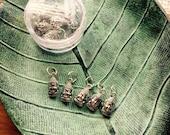 Silver Buddha Stitch Markers