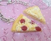 Kawaii Best Friend BFF Pizza Keychains, Polymer Clay Food Jewelry, Best Friend Presents