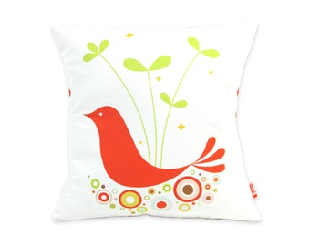 Limited Edition Orange Tweety Bird 13 Inches Square Pillow