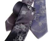Nerve Cell Necktie. Axon & Dendrite Tie. Neuron print, Brain Cell mens necktie. Neuroscience, neurologist, brain surgeon, psychologist gift.