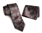 "Sports car necktie. ""Cargyle"" print men's tie. Muscle car graphic. Your choice of colors. Pocket squares available too!"