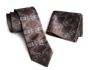 """Sports car necktie. """"Cargyle"""" print men's tie. Muscle car graphic. Your choice of colors. Pocket squares available too!"""