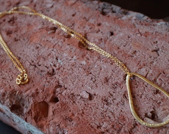Gold Vermeil Loop Pendant with 14K Gold-fill Necklace