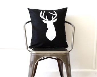 Black and White Buckhead Decorative Pillow Cover - READY TO SHIP