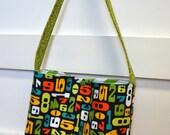 SALE Boys Bag Church Bag- Green Blue Orange Math and Numbers