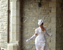 Victorian Delight - Custom Made Bustle Wedding Gown