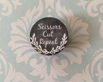 needle minder Scissors Cut Repeat chalk art style needleminder magnetized needle holder