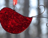 Stained Glass Little Red Bird