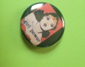 Girl Power wonderwoman 1 inch pin