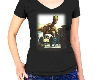 San Francisco Treat T-Shirt - Funny Dinosaur TShirt - Mens and Ladies Sizes Small-3X