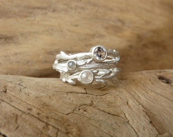 Etched in Nature Ring Set