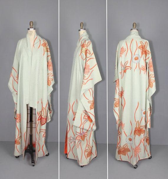 kimono brod vintage robe en soie kimono furisode. Black Bedroom Furniture Sets. Home Design Ideas