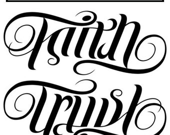 Custom Ambigram for 2 Names - One name rotates to become another