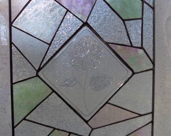 Stained Glass Crazy Quilt Window