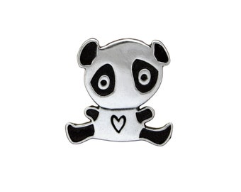 Silver Panda Bear Necklace - Sterling Silver Panda Pendant