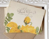 Yellow Rose Thank You Notes set of 20